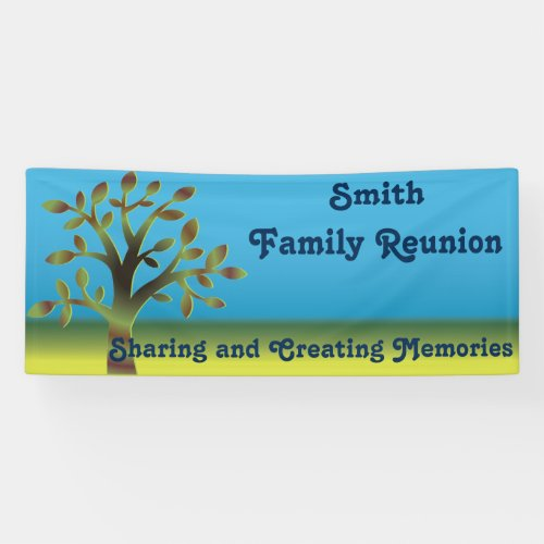 Family Tree Reunion Banner