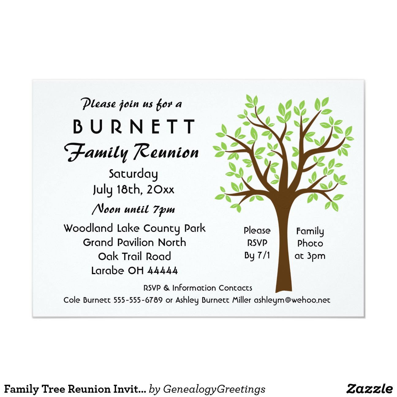 Family Gathering Invitations as best invitation layout