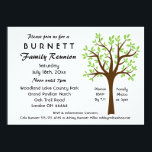"Family Tree Reunion Invitation<br><div class=""desc"">We also have an Autumn reunion card with fall colored leaves.  See below or visit Genealogy Greetings here at Zazzle. Just click on the direct link below.</div>"