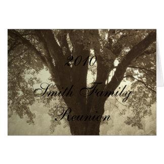 Family Tree Reunion Invitation Greeting Card