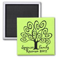 Family Tree Reunion Magnet