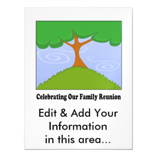 Family Tree Reunion Magnet Magnetic Card