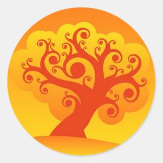 Family Tree Round Stickers