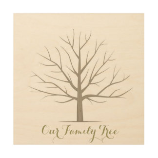 Family Tree - Square Wood Wall Art