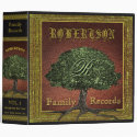 Family Tree | Vintage Leather Book Look 3 Ring Binder