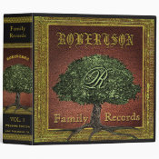 Family Tree | Vintage Leather Book Look 3 Ring Binder (<em>$24.15</em>)