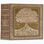 Family Tree | Vintage Wedding Tree 3 Ring Binder (<em>$24.15</em>)