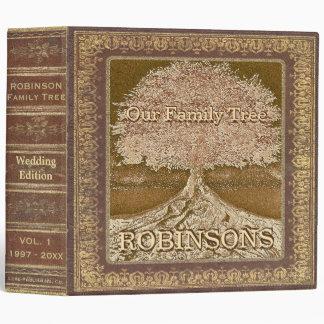 Family Tree | Vintage Wedding Tree 3 Ring Binder