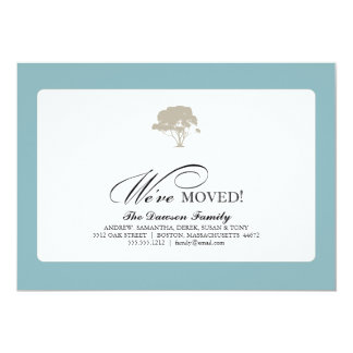 family tree {we've moved} 5x7 paper invitation card