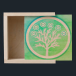 "Family Tree Wooden Keepsake Box<br><div class=""desc"">Complete your gift giving with a unique gift box. Use the template to personalize.</div>"