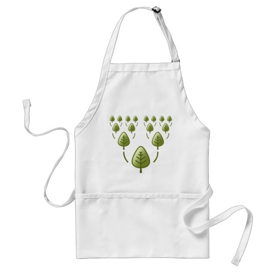 Family Trees Adult Apron