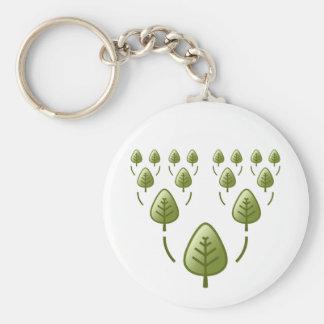 Family Trees Basic Round Button Keychain