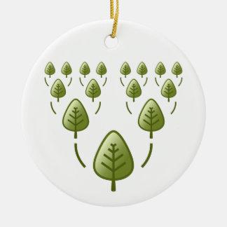 Family Trees Ceramic Ornament