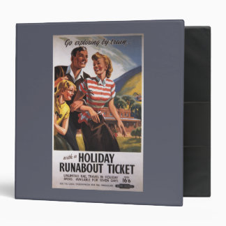 Family Trio on Holiday Runabout Savings 3 Ring Binder