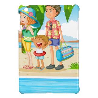 Family trip to the beach iPad mini case