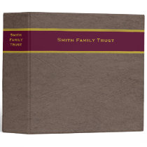 Family Trust Estate Planning binder