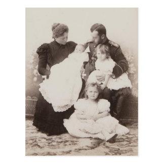 FAMILY TSAR NICOLAS & TSARINA Romanov Russia #297 Postcard