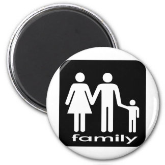 Family Tshirt 2 Inch Round Magnet