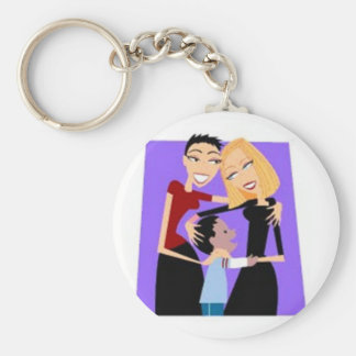 Family:  Two Moms Keychain