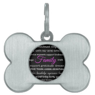 Family – Typographical Design Pet Tag