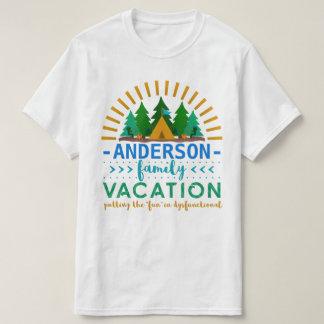 Family Vacation Funny Camping Trip   Custom Name T-Shirt