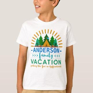 Family Vacation Funny Camping Trip | Custom Name T-Shirt