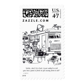 Family Vacation Postage Stamp