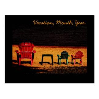 family vacation postcard