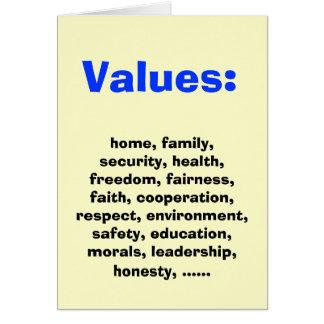 Family Values for Democratics Card