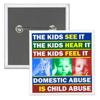 Family Violence 2 Inch Square Button