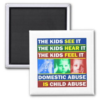 Family Violence 2 Inch Square Magnet
