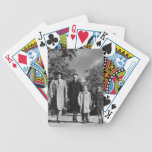 Family Walking Bicycle Playing Cards