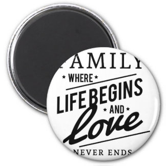 Family: Where Life Begins And Love Never Ends Magnet