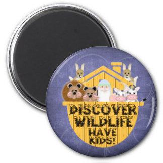Family Wildlife Refrigerator Magnet