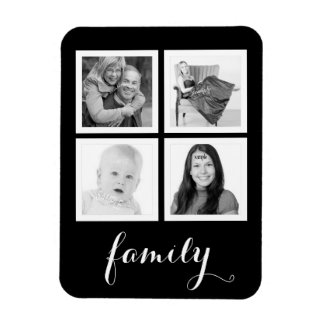 Family with Four Photos Magnet