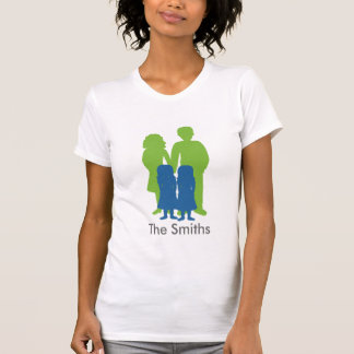 Family with twin girls T-Shirt