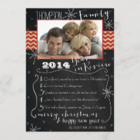 Family Year in Review Photo Christmas Card