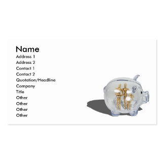 FamilySavings103010, Name, Address 1, Address 2... Double-Sided Standard Business Cards (Pack Of 100)
