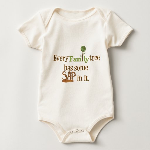 FamilyTree divertido Mameluco De Bebé