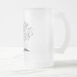 familytree 16 oz frosted glass beer mug