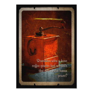 FamilyTreed Vintage Coffee Grinder Family Reunion 4.5x6.25 Paper Invitation Card