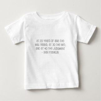 """Famoso, """"en 20,30,40"""" cita camisas"""