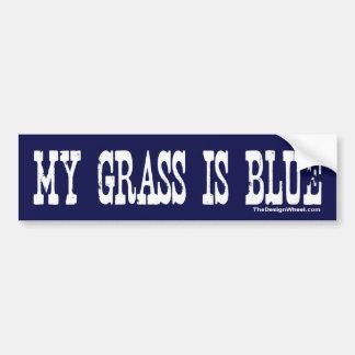 Famoso mi hierba es azul pegatina de parachoque