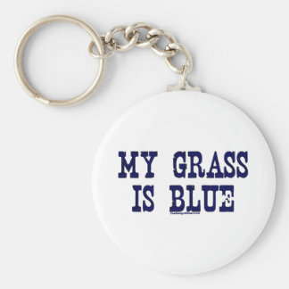 Famoso mi hierba es azul llavero redondo tipo pin