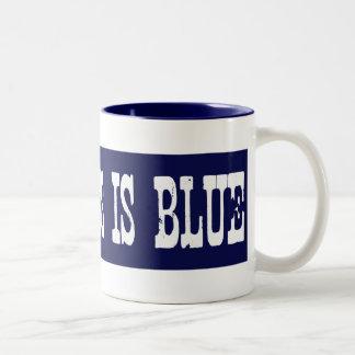 Famoso mi hierba es azul taza de café