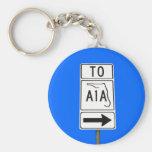 Famous A1A sign Key Chains