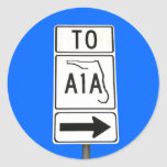 Famous A1A Sign Stickers
