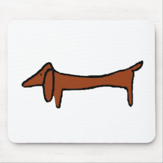 Famous Abstract Dachshund Mouse Pad