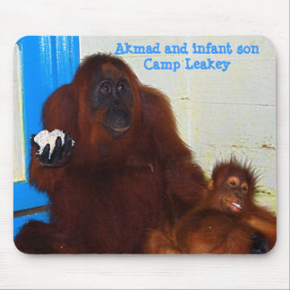 Famous Animal Mother and Baby Mouse Pad