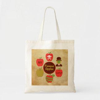 Famous Apples Canvas Bags
